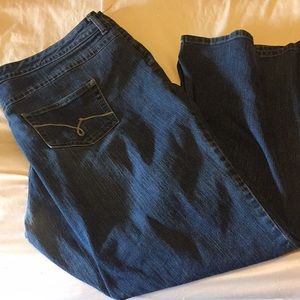 Just my size jeans . Worn once